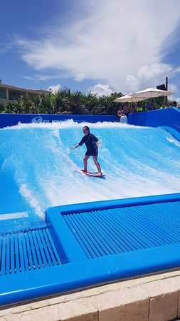 flowrider at sunrise  Picture of Moon Palace Cancun Cancun