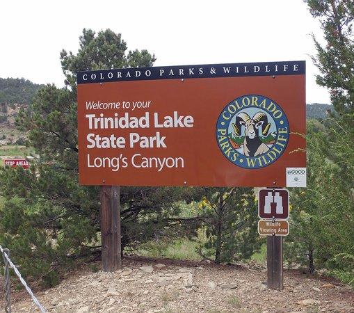 Trinidad, Colorado: Longs Canyon sign