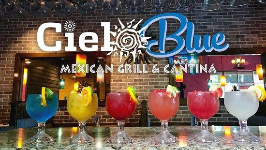 Conyers, GA: Fresh fruit Margaritas at Cielo Blue.