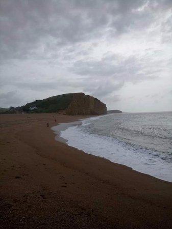 West bay beach , Broadchurch cliffs