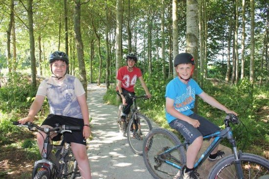 Pembridge, UK: Bike Trails & Pump track through the woods , free access to those wearing helmets