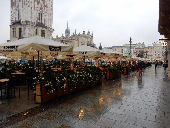 Outside Table Of Sphinx Main Square Krakow