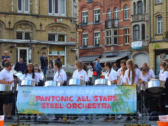 Pantonic All Stars Steel Orchestra on tour in Ypres
