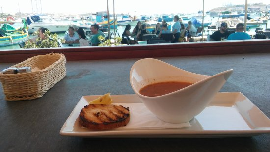 Marsaxlokk, Malta - czas na obiadek