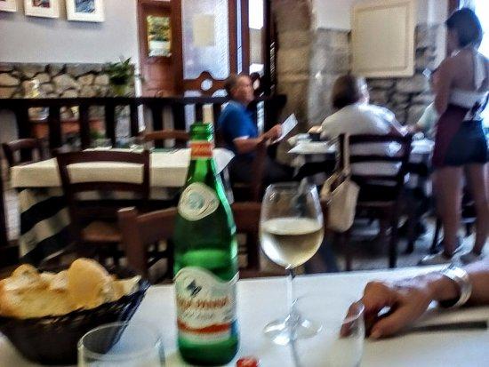 Castel Del Piano, Italien: La sala da pranzo o cena della Locanda.