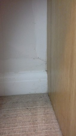 Betchworth, UK: Cobwebs under desk