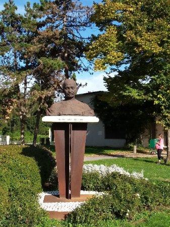 Vicenza, Italie : A Parco Campo Marzo la statua di M. Ghandi