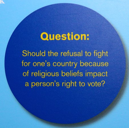 Abbotsford, Canada: Many thought provoking questions posted throughout
