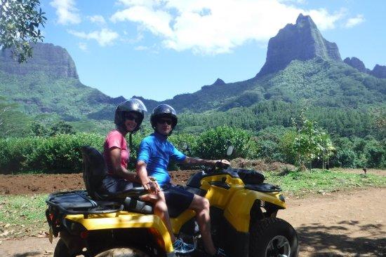 Papetoai, Polinezja Francuska: Quad trip