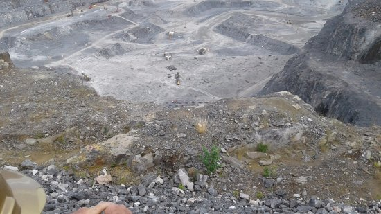 Malartic, Canada: you need a panoramic setting on your camera to capture the magnitude of this pit.