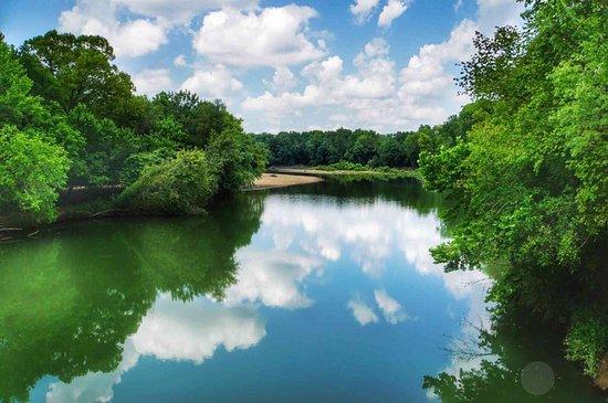 Swinging Bridge: Grand Auglaize Creek
