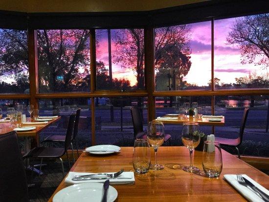 Sunset views Lakeside at Julie-Anna's Restaurant
