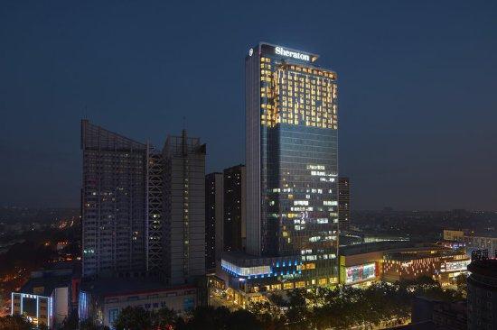 Zibo, China: Hotel Exterior-Night view