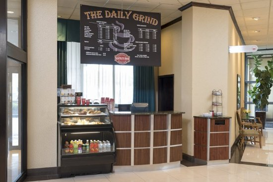 Independence, Ohio: The Daily Grind - Seattle' Best Coffee kiosk in lobby