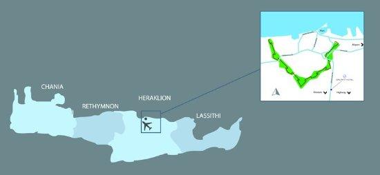 GALAXY HOTEL IRAKLIO - LOCATION MAP