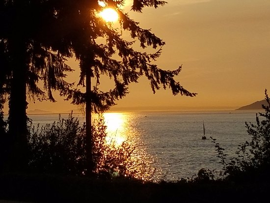 Teahouse in Stanley Park: Sunset from in front of the restaurant