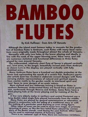 Mele, Vanuatu: Bamboo flutes