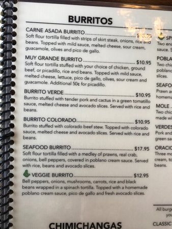 Avocados Mexican Restaurant: Burritos!