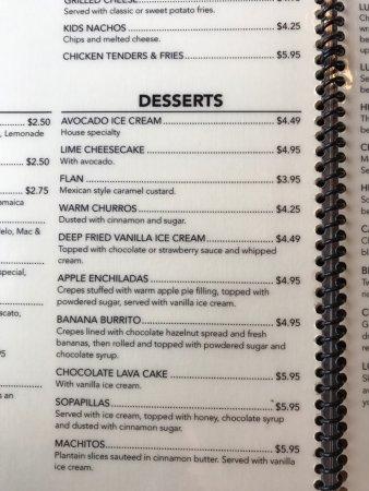 Avocados Mexican Restaurant: Desserts!