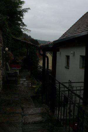 Vranov nad Dyji, República Checa: Venkovní prostory pensionu