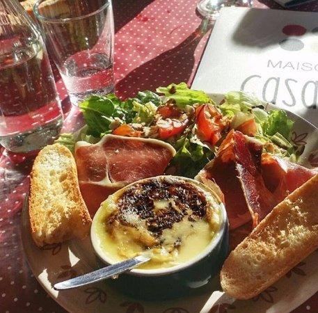 Camembert chaud a la Maison Casaux a Gourette