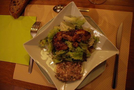 Mezieres-en-Brenne, فرنسا: le foie gras pöelé