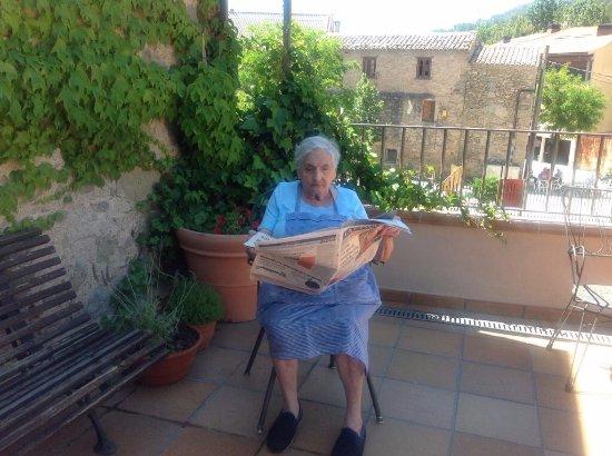 Monistrol de Calders, Spanien: La Ramona, fundadora del restaurant Rubell.