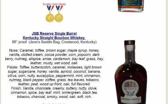 Union, KY: JSB Reserve 2017 Double Gold WINNER