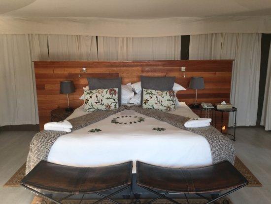 Timbavati Private Nature Reserve, Afrika Selatan: Tent 4 - beautifully present and so comfortable!