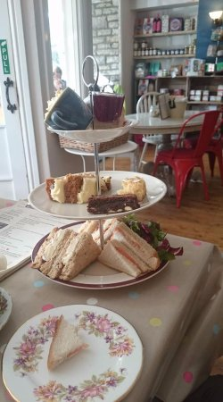 Afternoon Tea for one at Olivers Cafe