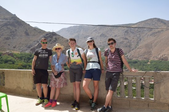 Imlil, Morocco: at the balcony of the guides house
