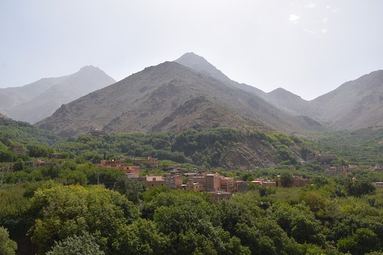 Imlil, Morocco: view on the lower village