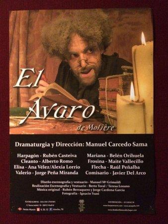 Resultado de imagen de imagenes de El Avaro de Karpas Teatro