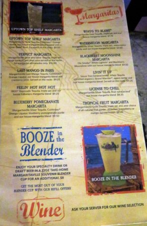 margaritas and booze page - Picture of Margaritaville