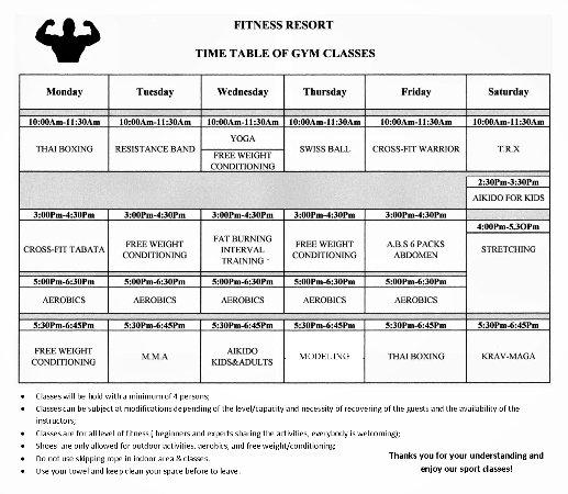 Fitness Resort Sihanoukville: Planning classes