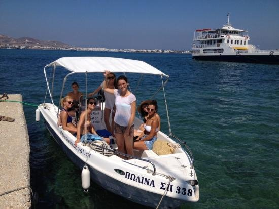 Parikia, Grèce : 525 with 30hp engine no license required up to 6 people