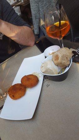 Bridge: cheese croquettes & aperol spritz