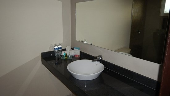 Hotel Hacienda Morelos: Bathroom sink area, Room 301