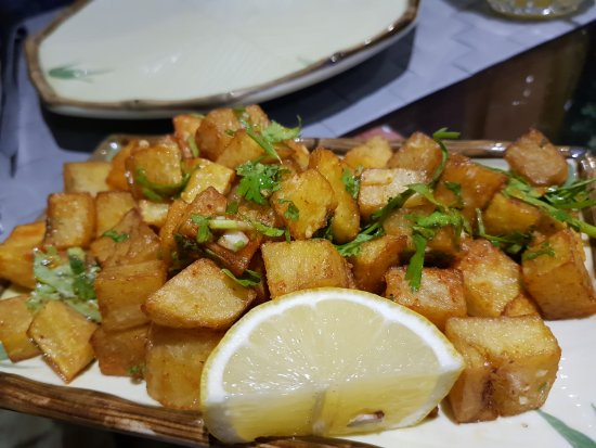Spicy fried potato picture of aroma garden doha for Aroma mediterranean cuisine