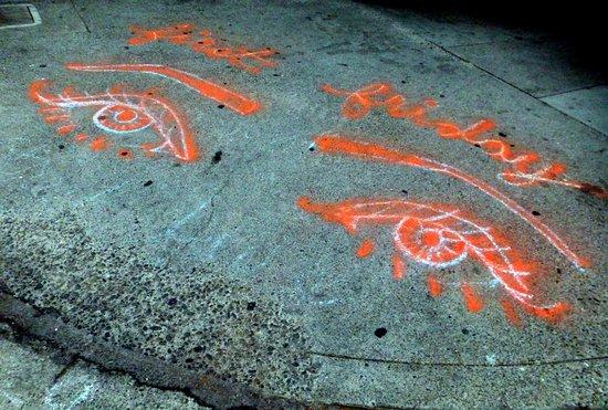 Модесто, Калифорния: Arte incluso en la acera