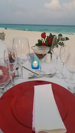Romantic Meal on Beach