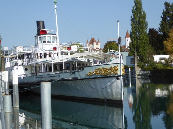 Am Hafen in Thun