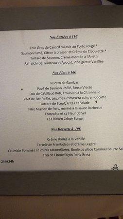 Best Western Plus Palais Des Congres : Carte room service