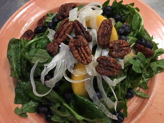 Striper Bites: summer salad
