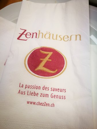 Restaurant et boulangerie Zenhausern: Serviette