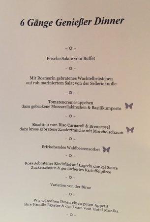 Hotel Monika: Abendmenü