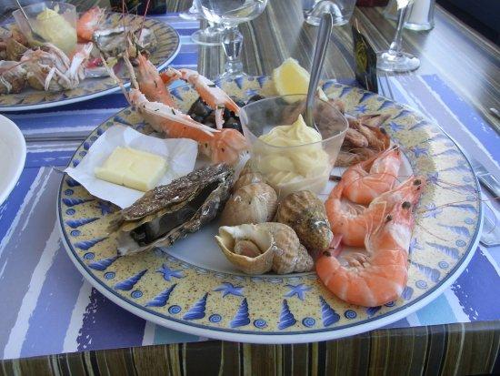 Restaurant Le Homard Bleu : Assiette de la mer