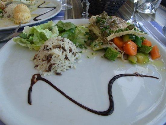 Restaurant Le Homard Bleu : aile de raie aux câpres