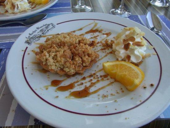 Restaurant Le Homard Bleu : crumble aux pommes