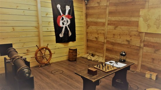 Roanoke, VA: Our Pirates room, where you have to prove that your mind is as sharp as your sword!